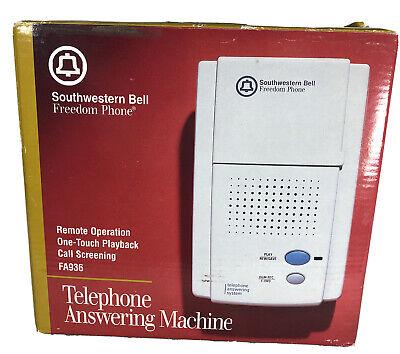 Southwestern Bell Freedom Telephone Answering Machine Microcassette FA936 New