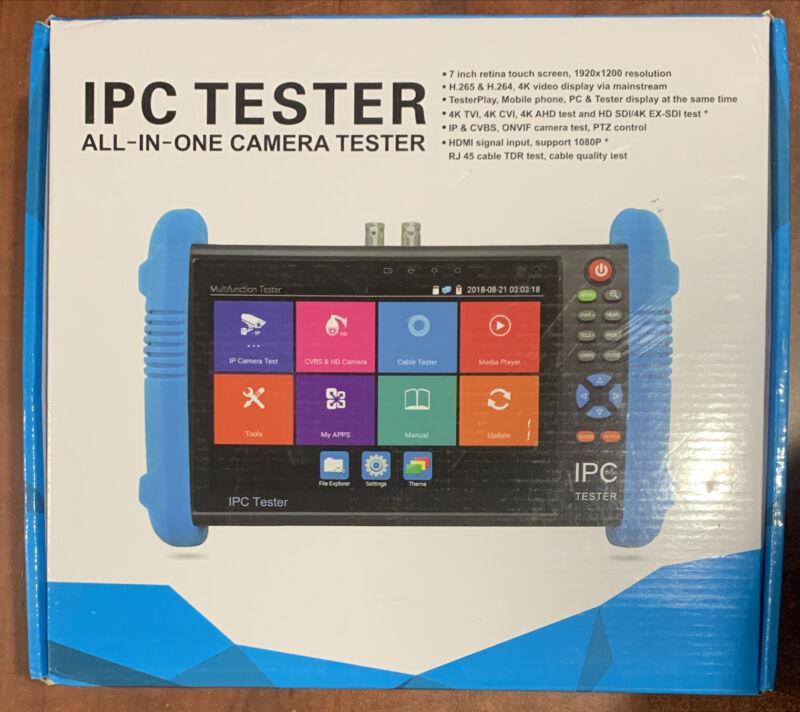 "IPC-9800Plus+ 7"" Touch Screen CCTV IP Camera Tester H.265 4K 12MP POE ONVIF"