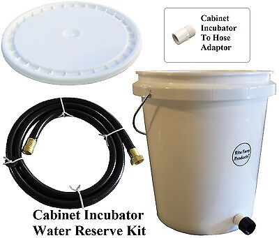 Rite Farm Products Cabinet Incubator 5 Gallon Gravity Water Supplyreserve Kit