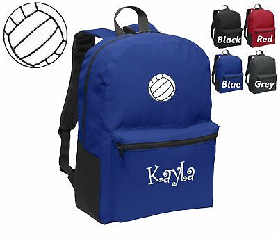 Personalized Kids Backpack Embroidered Volleyball Monogrammed with Name  - Volleyball Backpacks