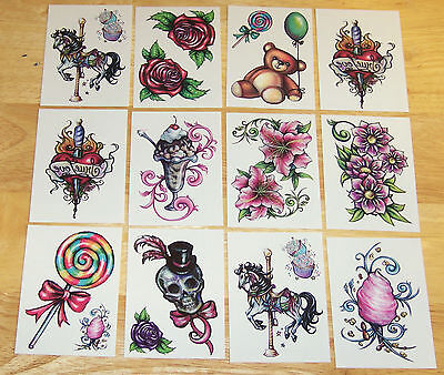 12 Inked Temporary Tattoos - Beautiful! Great value!
