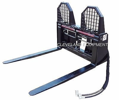 48 Hydraulic Pallet Forks Frame Attachment Bobcat Cat Skid Steer Track Loader