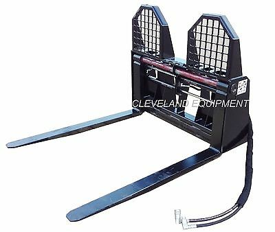 New 48 Hydraulic Pallet Forks Frame Attachment John Deere Skid Steer Loader
