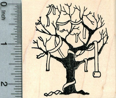 Halloween Tree Rubber Stamp, Toilet Paper Prank J32912 - Toilet Paper Craft Halloween