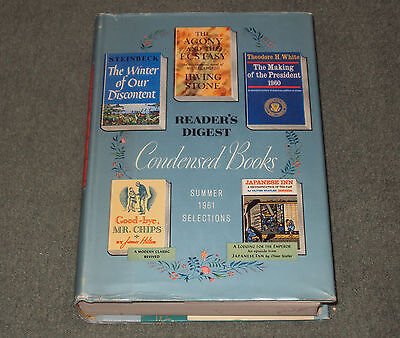 Readers Digest Condensed Books Summer 1961 Selections