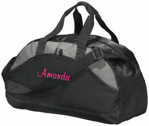 Personalized Monogrammed Duffel Bag Gym Travel Carry On Cheer Dance Small  Black