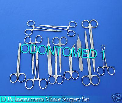 13 Instruments Minor Surgery Suture Set Kit Forceps
