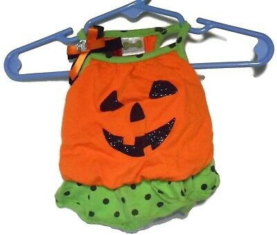Petco Pumpkin Blouson Dress Jack-O-Lantern X-Small Dog Pet Clothes