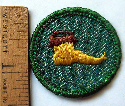Rare Vintage 1955 Girl Scout Troop Dramatics Badge Acting Play Patch Light Edge