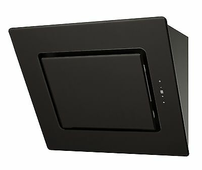 MILLAR KH600V-AG 60cm Black Angled/Slanted Kitchen Extractor  Hood Touch Control