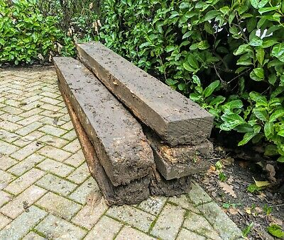 Railway Sleepers x5 Salvaged Reclaimed Weathered Distressed