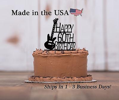 Bass Guitar Cake Topper, Musician, Band Party, Birthday Custom Keepsake- - Band Cake