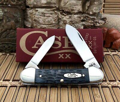 Case XX USA 2021 Pocket Worn Crandall Jig GRAY Bone CV CA58415 Canoe Knife •