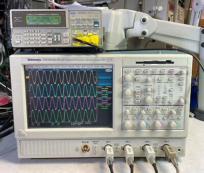 Tektronix Tds5054b Dpo Oscilloscope 4ch 500mhz 5gss 3m Sm J2 Usb Pw3 Ja3 Je3 18