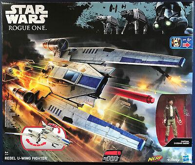 Star Wars REBEL U-WING FIGHTER + Captain CASSIAN Figure HASBRO Rogue One NEW MIB