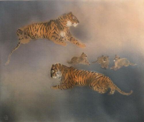 Kaiko Moti Tigers Original Etching Signed/ Numbered Art