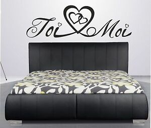 beau stickers couple amour toi moi amoureux t te de lit. Black Bedroom Furniture Sets. Home Design Ideas