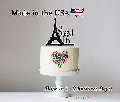 Sweet 16, Paris Eiffel Tower Cake Topper, Paris Topper, Eiffel Topper, LT1040 - Paris Sweet 16