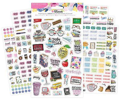 Bloom Daily Planners New Teacher Planner Sticker Pack - School Themed Planning
