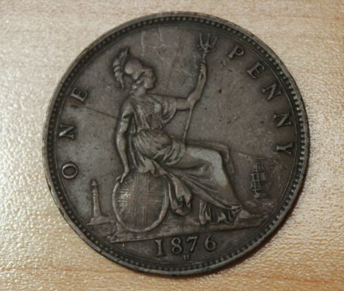 1876 Great Britain 1 Penny
