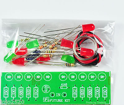 2 Way Audio Vu Meter 10 Led No Need Power Supply Unassembled Electronic Kit