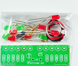 2-Way-Audio-VU-meter-10-LED-no-need-power-supply-Unassembled-Electronic-Kit