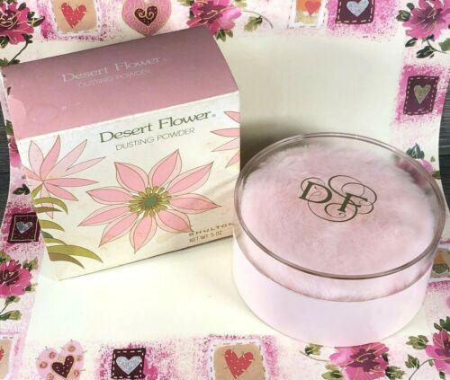 Vintage Desert Flower Dusting Powder Shulton With Puff 5 oz SEALED Box Damage