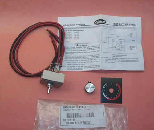 NEW HATCO INFINITE SWITCH W/ KNOB R02.19.017.00 50 59090.051 208V 13A 13 AMP A