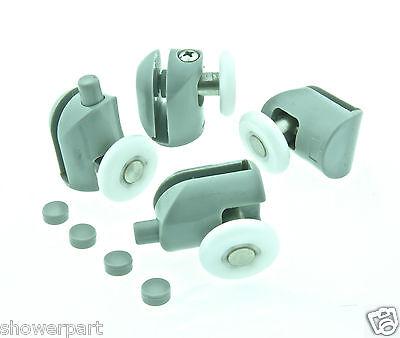 * Set of 4 Single Shower Door Rollers/Runners/Wheels/Pulleys 25mm wheel Dia L001