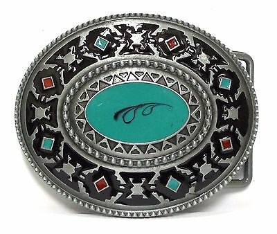 Native Indian American style Western Turquoise Belt Buckle Round New