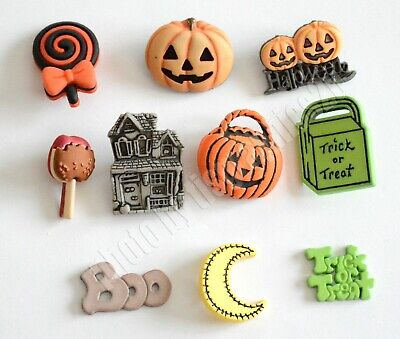 Halloween Night Buttons / Candy - Pumpkins ~ Treat Bag / Buttons Galore](Halloween Buttons)