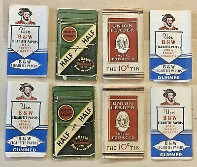Vintage Lot Cigarette Rolling Papers Tobacco Advertising Union Leader Bw Burly