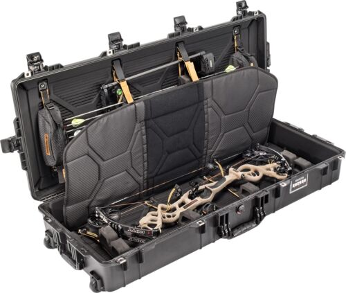 Pelican 1745 Long Bow Case-Black-Wheels and Lockable