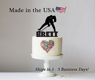 Hockey Birthday Topper, Sports Theme Party, Keepsake, Ice Hockey, Boy - - Ice Hockey Party Supplies