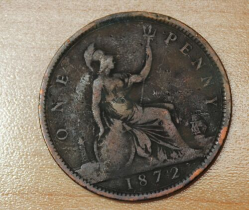 1872 Great Britain 1 Penny