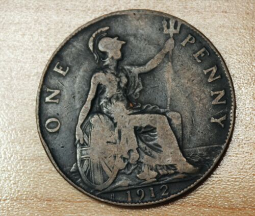 1912 H Great Britain 1 Penny