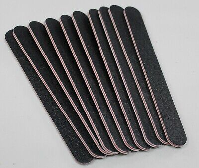 Double Sided Manicure Nail File Emery Board Zebra Files 100/180 grit 10 pack