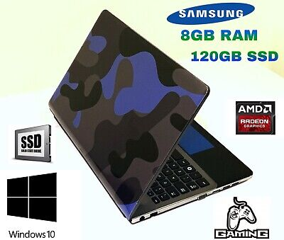 SAMSUNG GAMING LAPTOP 8GB RAM 120GB SSD AMD A8 with radeon HD Graphics