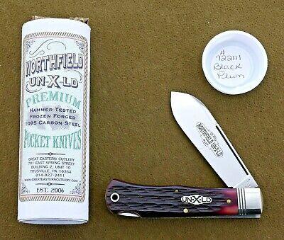 GEC Northfield 722111 Mini Lockback Hunter knife with Black Plum Jig Bone