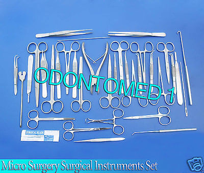 Set Of 78 Pcs Micro Surgery Surgical Veterinary Dental Instruments Studen Ds-930
