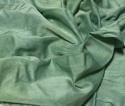 - Hand Dyed Celadon Green - Silk/Cotton Voile Fabric