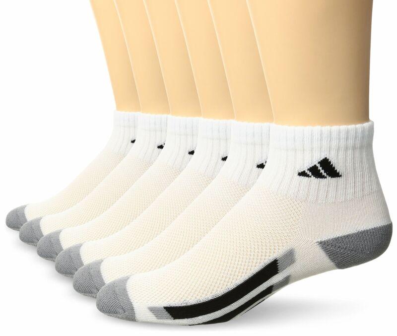 adidas Youth Kids Unisex Cushioned Quarter Socks (6-Pair) Size Large