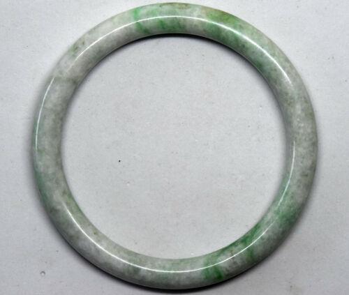 Old Chinese Undyed Untreated Jadeite Jade Bangle Bracelet