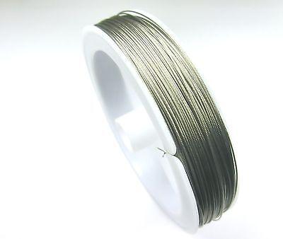 100m SCHMUCKDRAHT Edelstahlseide 1 ROLLE 0,45mm Farbe silber Perlendraht