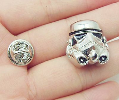 Cufflinks Star Wars Storm Trooper Silver Plated Brooch Pin Not Cufflinks Movie