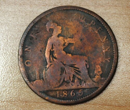 1865 Great Britain 1 Penny