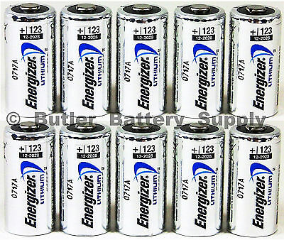 10 X Cr123 Energizer 3V Lithium Batteries  Cr123a  Dl123  123  El123  Cr17345