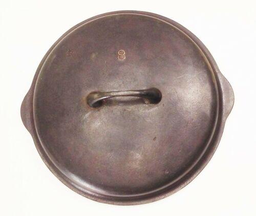 Vtg Griswold no.8 1035 dutch oven cast iron basting top lid cover tite-top