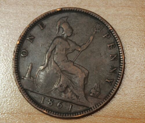 1861 Great Britain 1 Penny