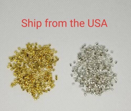 250 PCs Crimp Beads, Tube, 2x2 mm